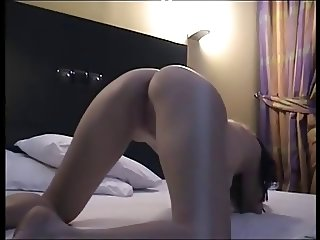 Fucking my blonde GF (19) with banana