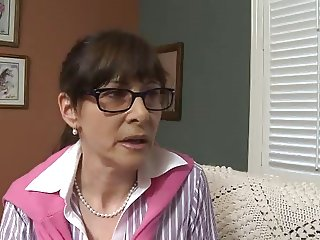 Mature Women Seduce and  Fucks Teen Couple