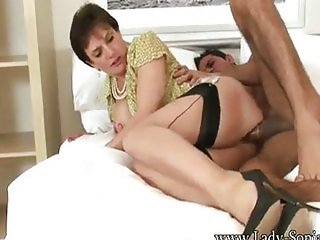 Lady Sonia - Riding The Guy From The Gym