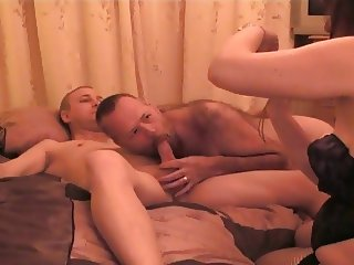 Sharing my wife with a bi friend  he  gets to cream pie her