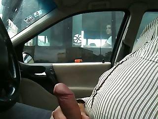 Flashing in car through the bus window 3