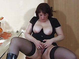 Pierced  mature toyed and fisted