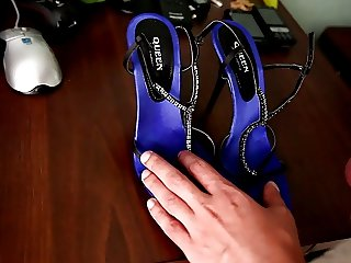 cumming inside perfect satin used insiles of aamazings shoes