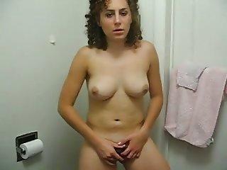 Teen Bathroom Masturbation