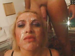 Axen face full of sperm