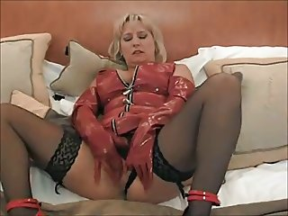 dirty milf in red pvc