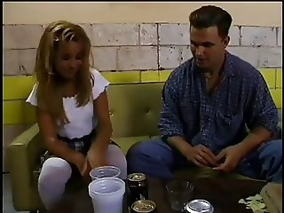 Small Blond Allysin Chaynes Drink And Fucked