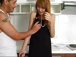 Blonde Asian Ladyboy Teases and Pleases Her Man