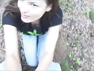 Ivana Fukalot - Blowjob in the forest