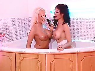 Lucy and Olivia in the RLC Bath