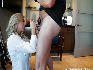 Busty Doctor Sucks Cock To Swallow Jizz