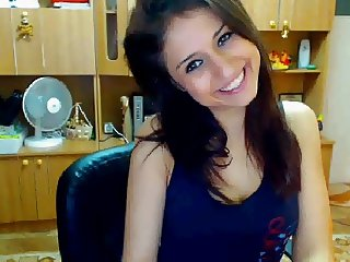 Cute Brazilian Student Stripping On Cam