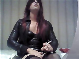 Smoking, leather and exciting