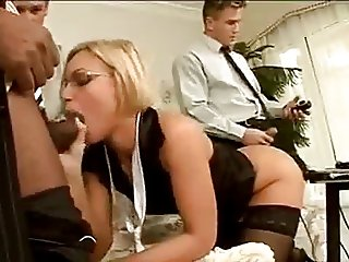 Office Gangbang with Silvia