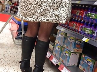 Fishnet tights and boots
