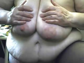 Crazy Grandma masturbating witn dildo and squirting