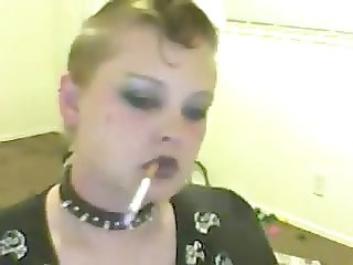 Sexy Goth Smoking Fetish