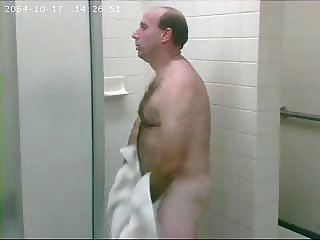 SPY - Bear in gym showers