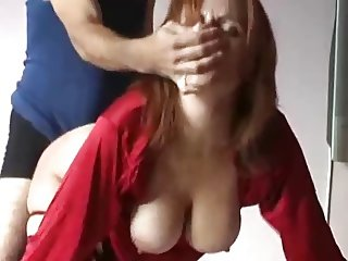 Dirty MILF fucked hard with cum in mouth