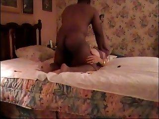 Crossdresser with Sexy Black Bull