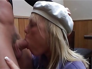 British slut watches her twin sister give a blowjob