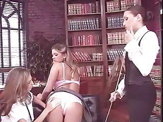 Head Mistress Celeste Star Seduces Two School Girls