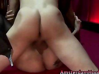 Stockings horny real dutch hooker