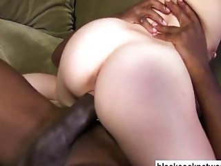 Big blonde pornstar blowing huge black dick