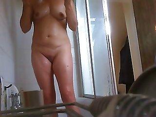 MILF shower - hidden camera