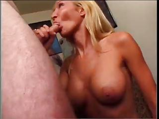 Hot Blonde Cougar BJ