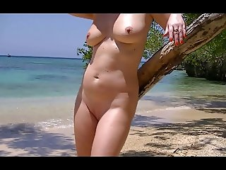 Hedonistic Dutch Milf flashing in Jamaica