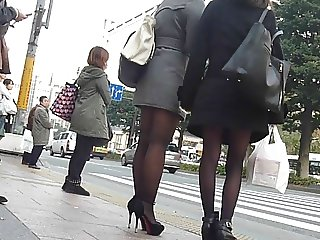candid asian pantyhose