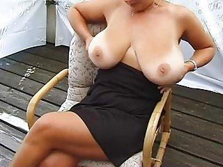 Amateur MILF Shows Her Huge Tits