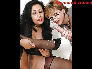 Collage with Lady Sonia and Danica Collins