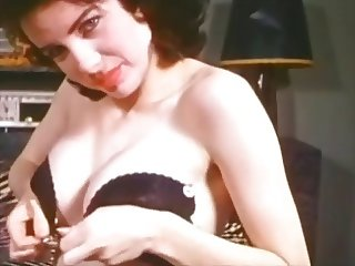 TROUBLE - vintage striptease music video (stockings)