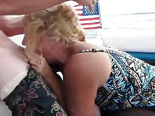 Amateur Mom DeepThroat On A Boat