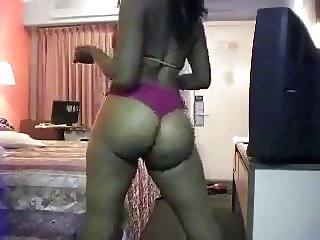 Big Black Ass In Hotel Room