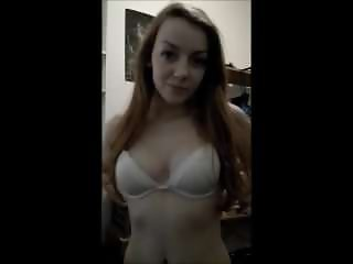Gingerpuss, very cute redhead gives blowjob and swallow