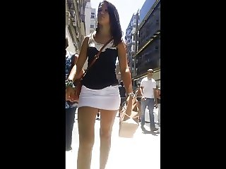 candid heels ass sexy young latino girl