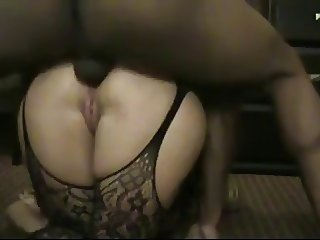 Big Ass White Woman Serious Anal Sex with Black Dude