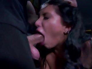 slut on fire in a multi cock service