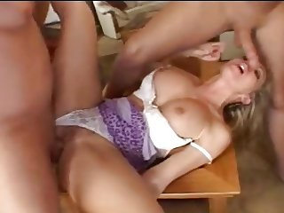 British milf in long run, with dp