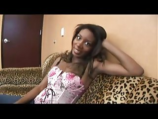 Pretty Black Milf fucks stranger in Hotel room