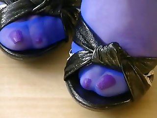 Stockings and heel foot play