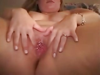 Filled with sperm front of her husband