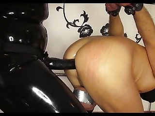 black strapon for bounding slave