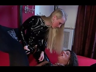 sissy slave getting fucked with huge strap-on