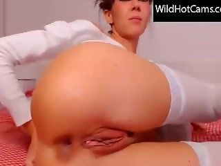 Finger in ass - hot girl webcam anal play - cap from wildhotcams.com