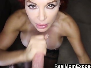 Redhead Cougar Toying With Her Prey