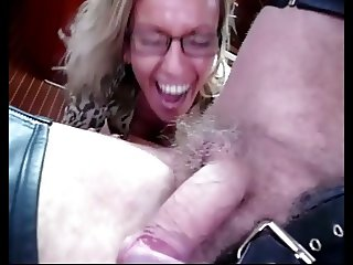 Hot Milf in thigh boots sucks in car and boat